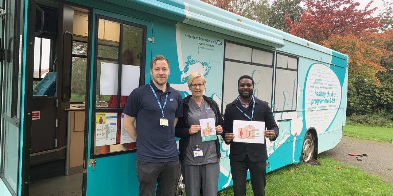 NHS AAA Screening held free screening on a health bus