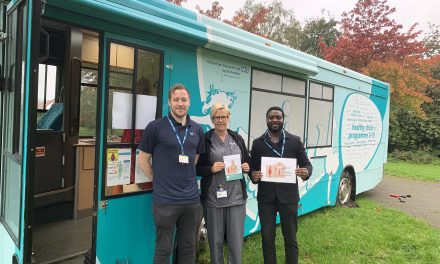 NHS AAA Screening held free screening on a health bus