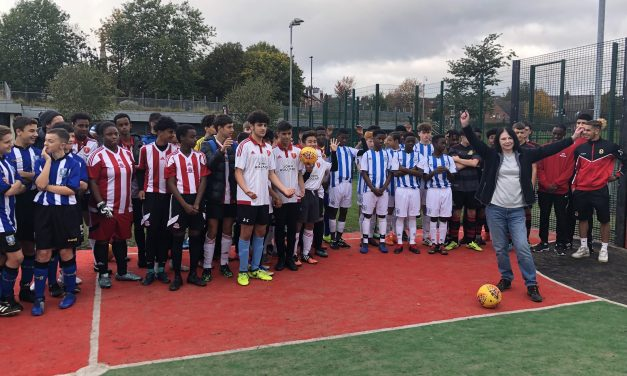 First interactive football wall launched in Sheffield