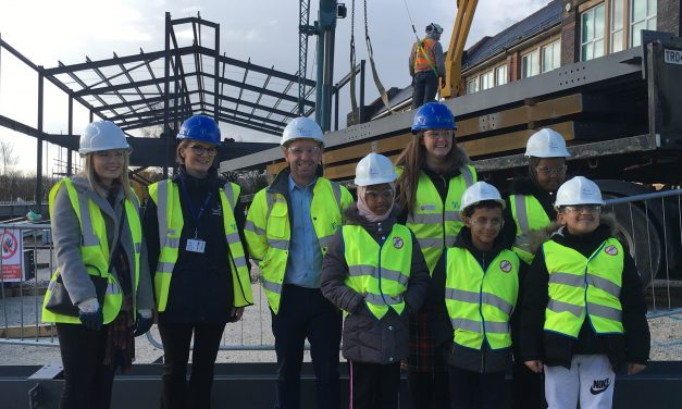 Pupils leave mark of history on new primary school building